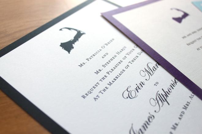 CUSTOM WATERCOLOR WEDDING INVITATIONS | VINEYARD WED: Cape ...