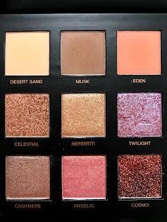 Huda Beauty Desert Dusk far paleti incelemesi
