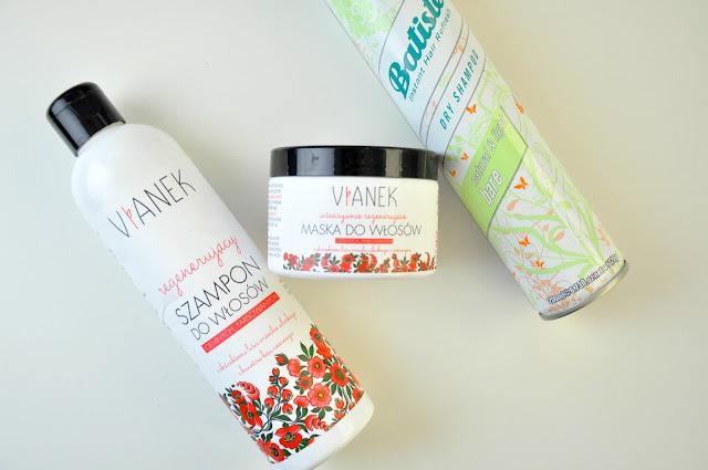 regenerujący szampon i maska do włosów vianek, suchy szampon batiste