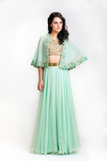 Cape Style With a Lehenga