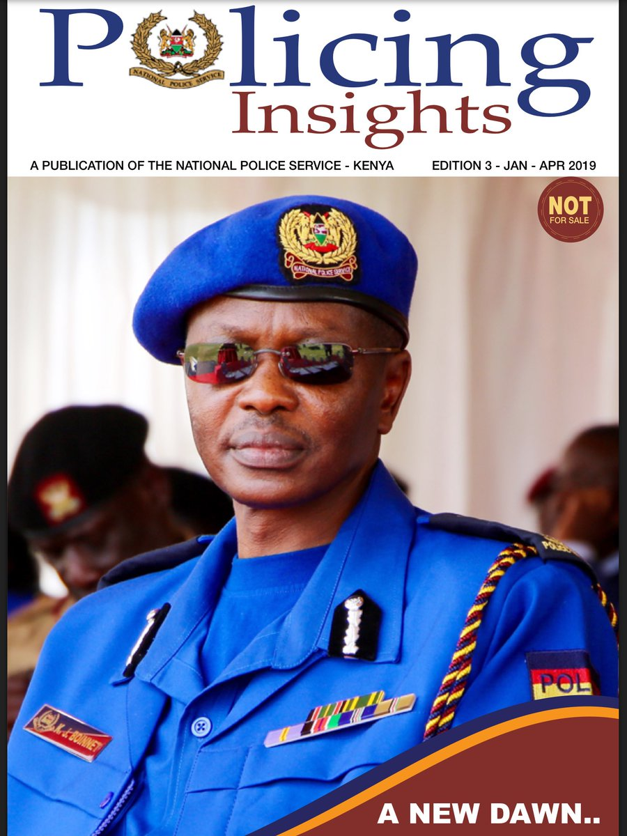 Police IG Boinnet TAPS OUT As His Term Ends In Preparation For PENSION