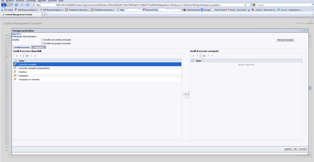 Business Intelligence with SAP Business Objects: CMC - Not