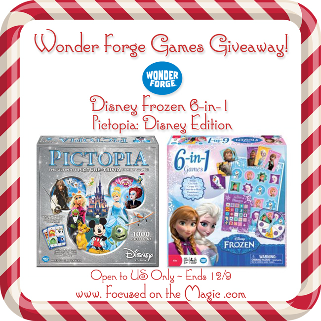 Enter to win! Pictopia Disney Trivia Game and Disney Frozen 6-in-1 games