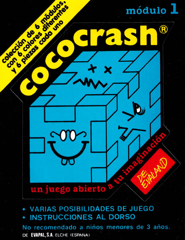 Cococrash 1986 Pegatina nivel 1