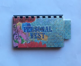 Handmade Blue 'Personal Best' Blank Recipe Book for Personal Recipes on etsy. Click image for info.