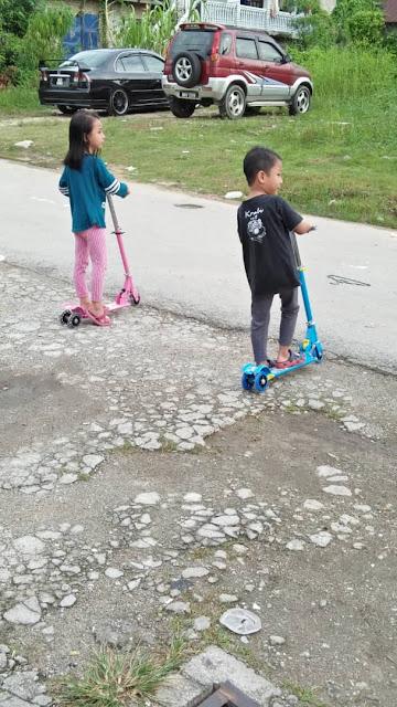 Beli Scooter murah di Lazada , lazada sale, shopping di lazada, scooter kanak-kanak, tips elak anak demam