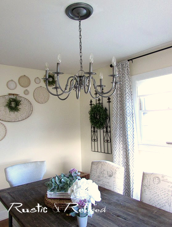 Updating a dated chandelier to save money - what the faux painters don't tell you.