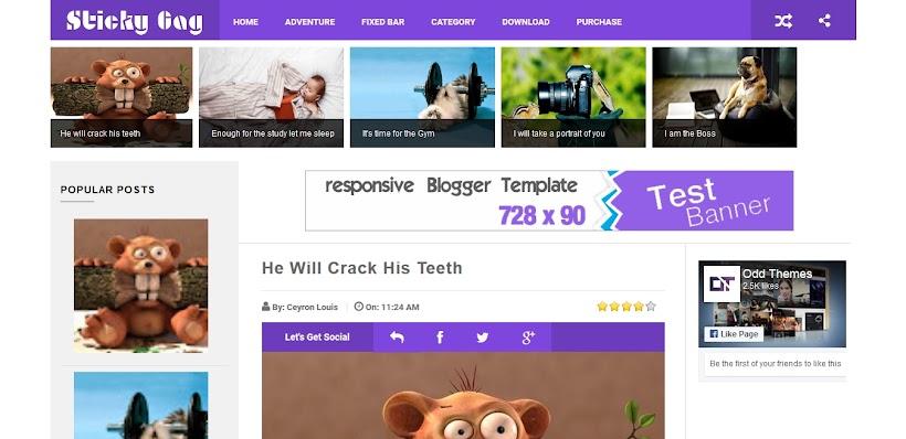 StickyGag Free Blogger Template