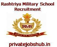 Rashtriya Military School Recruitment