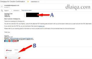 email boarding pass telah diterima