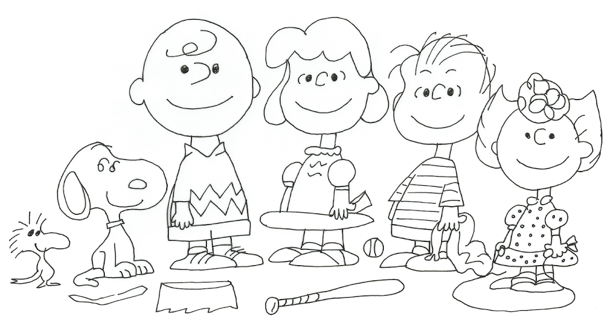 Free Charlie Brown Snoopy and Peanuts Coloring Pages