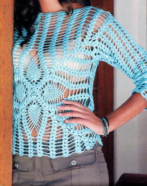 Stylish Easy Crochet Crochet Lace Pattern Of Gorgeous Sweater Tunic
