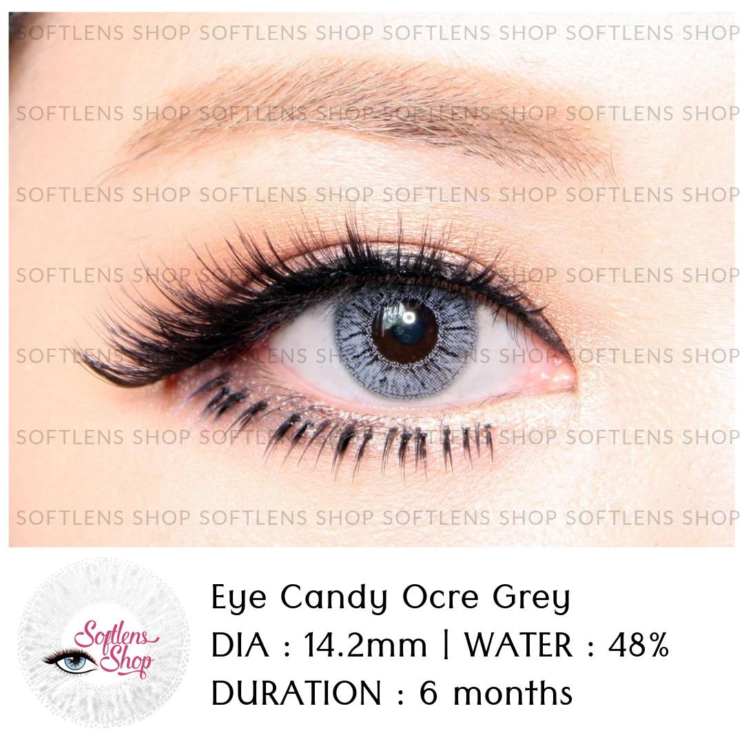 Softlens Shop Eye Candy Lovely Girl Sweety Black Ocre Grey