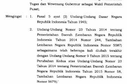 Peraturan Pemerintah No 33 [Tahun] 2018 (Tentang) Pelaksanaan TUGAS & WEWENANG GUBERNUR SEBAGAI WAKIL Pemerintah PUSAT