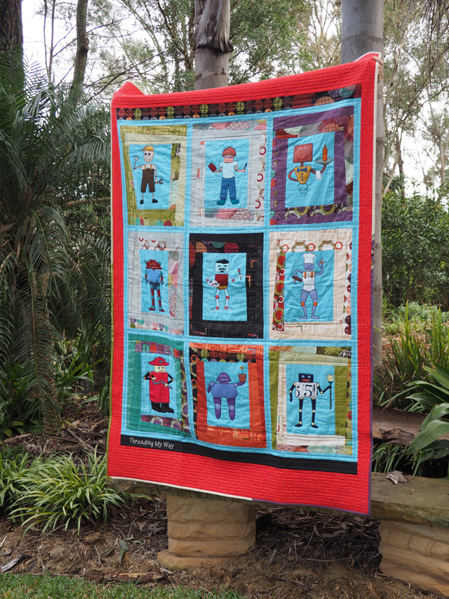 Robot Appliquéd Quilt... how to make one ~ Threading My Way
