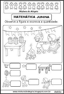 Atividades festa junina matemática