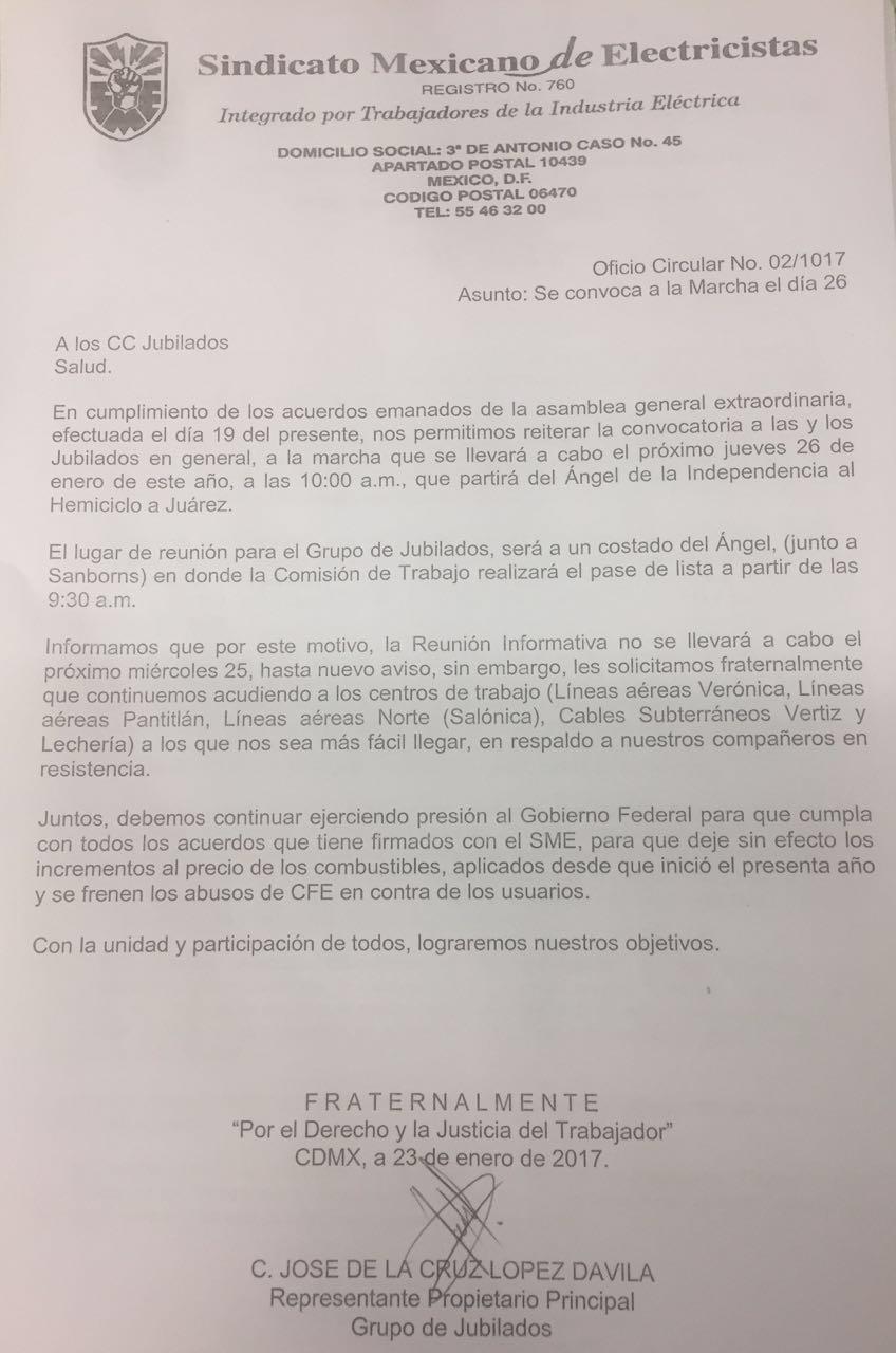 sme resistencia cuernavaca: enero 2017