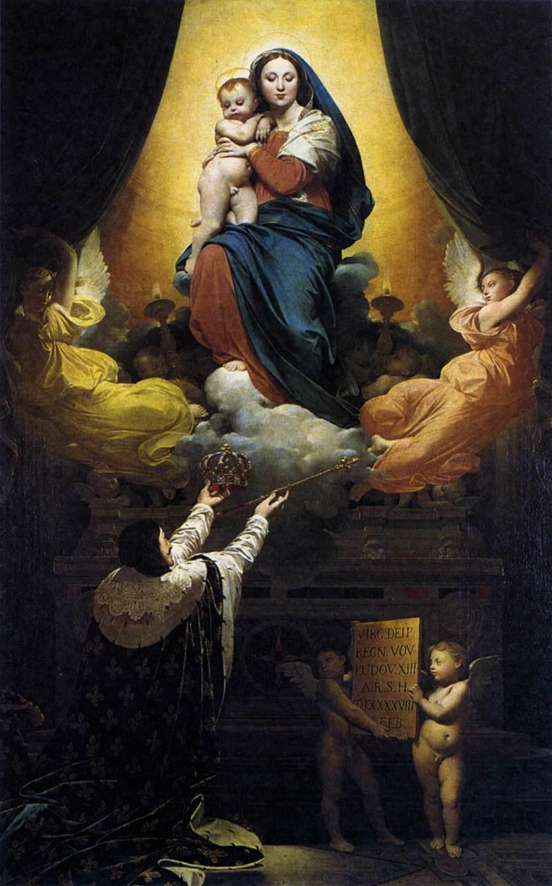 Jean,Auguste,Dominique Ingres, Voto di Luigi XIII,