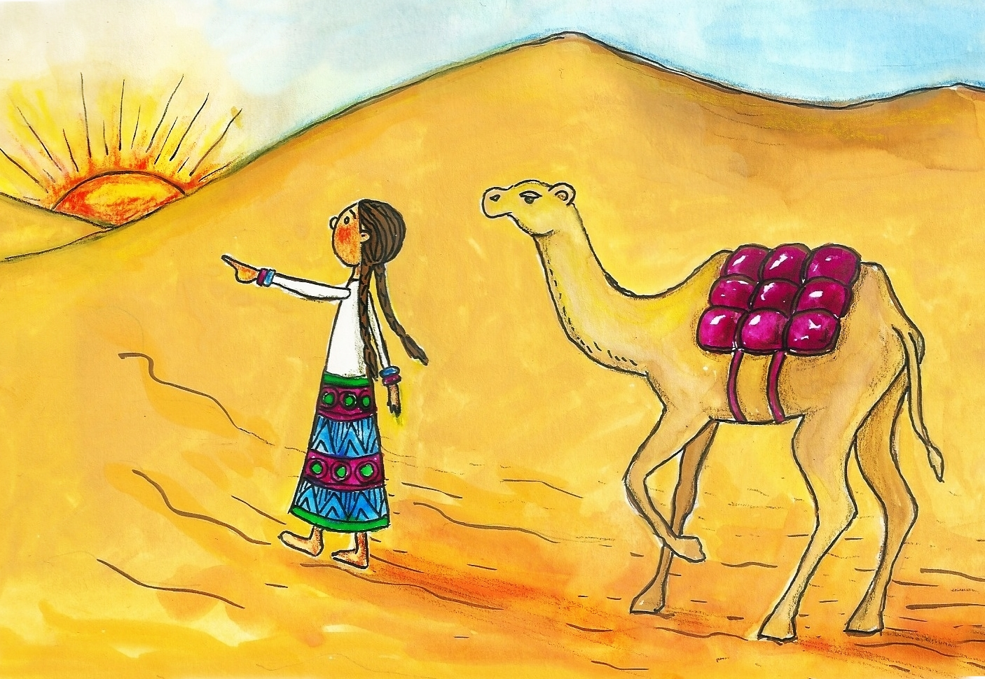 desert camel artwork
