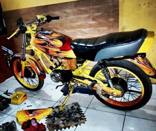 Yamaha RX King  modifikasi jakarta