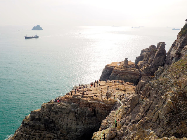 Sinseon rock and Teapot Island, taken from Yeongdo Lighthouse, Taejongdae Park, Busan, South Korea