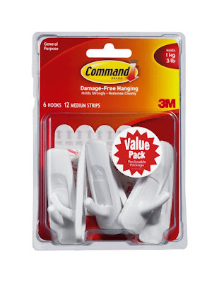 Top Dorm Room Accessories to Keep You Organized - command hooks :: OrganizingMadeFun.com