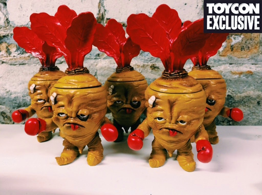 """Beeten but not Broken"" Custom Deadbeet Vinyl Figures by JC Rivera"