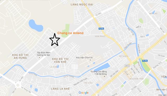 Vị trí dự án Anland Nam Cường.