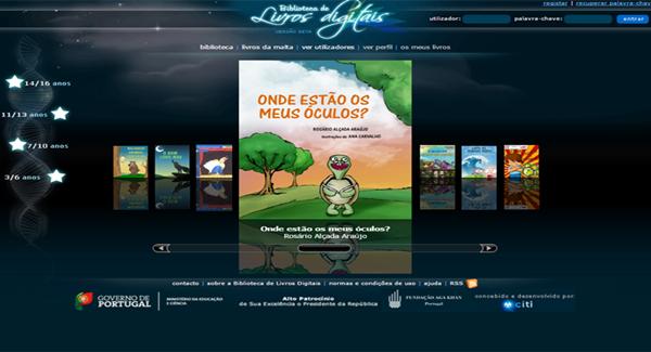 O site Biblioteca de Livros Digitais é dedicado à distribuição de livros para crianças como forma de incentivar a leitura desde a infância.