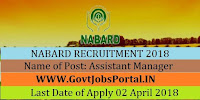 National Bank for Agriculture and Rural Development Recruitment 2018-92 Assistant Manager