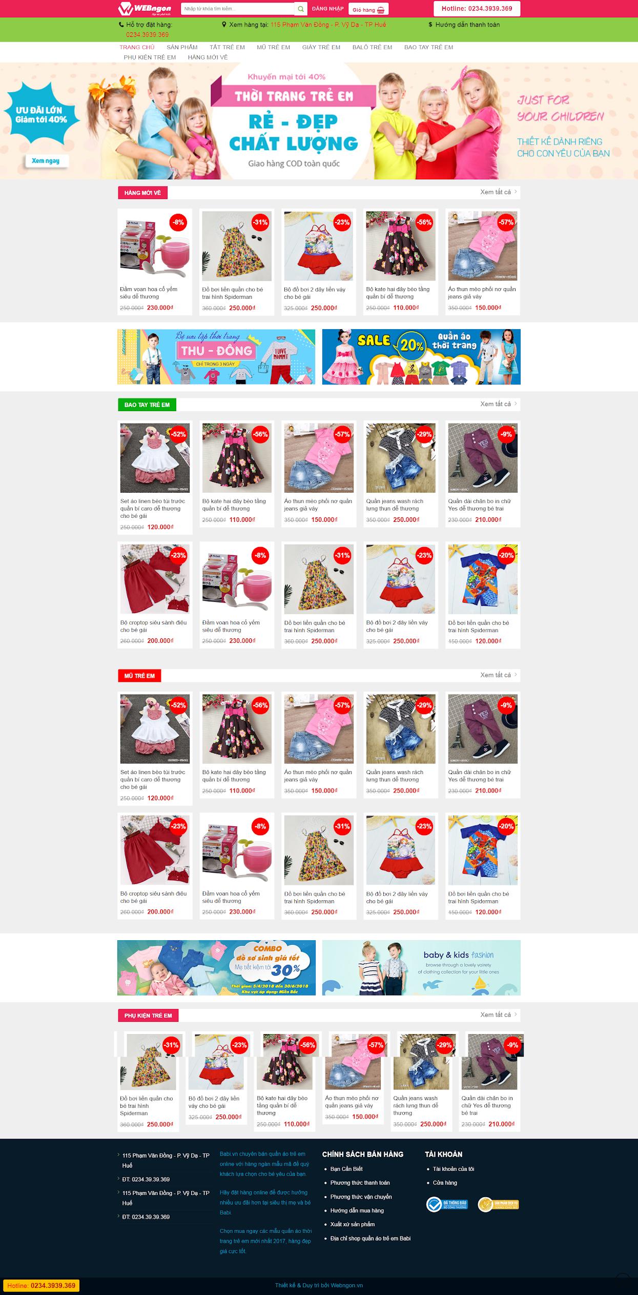 mẫu bán hàng Shop baby wn014
