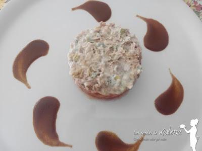 Timbal de atún y tomate
