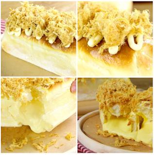 Cách làm bánh mì phô mai tan chảy dùng gelatine 3