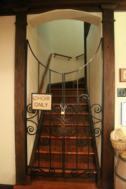Choir loft entrance