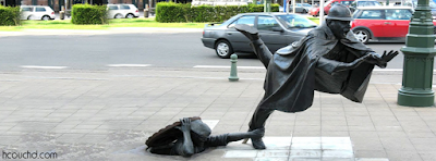 تمثال دي فارتكبون في بروكسل، بلجيكا