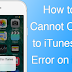 How to Fix Cannot Connect to iTunes Store Error