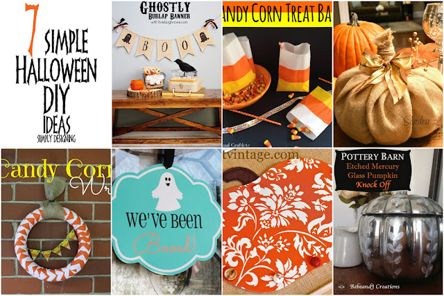 7 Simple Halloween DIY Ideas | #diy #halloween #crafts | Simply Designing