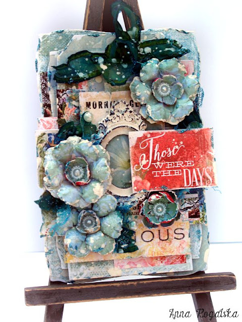 Scraps of Elegance scrapbook kit club - Anna Rogalska created these amazing shabby chic mixed media cards with our August kit 'Mallika's Whimsy'. Find our kits here: www.scrapsofdarkness.com
