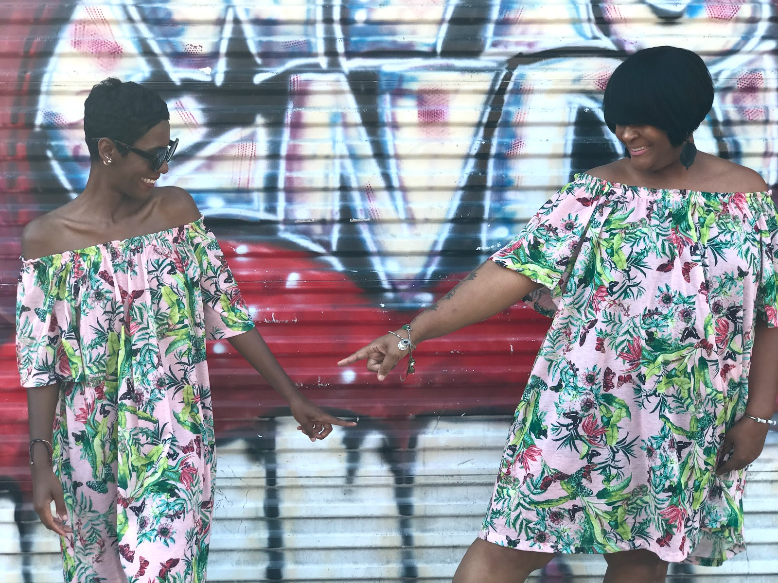 Image: Mother and daughter showing off their matching summer dresses. Seen first on bits and babbles