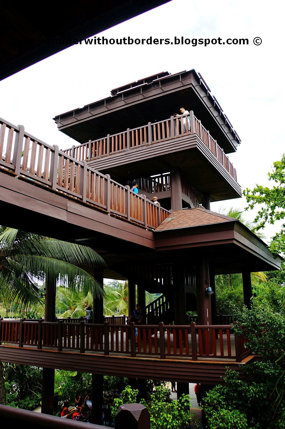 Palawan Island wooden towers, Sentosa, Singapore