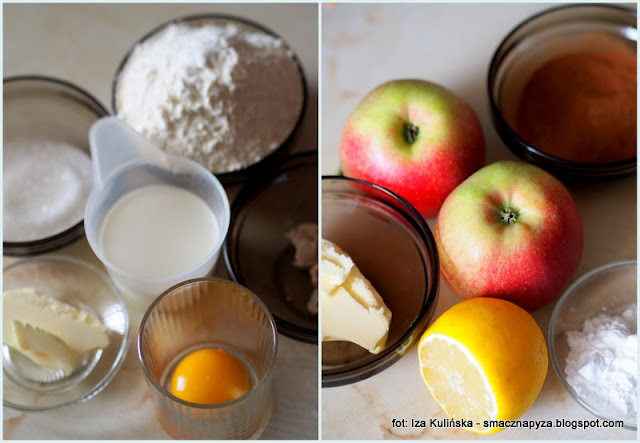 muffiny drożdżowe z jabłkiem i cynamonem , słodkie bułeczki ,moje wypieki , deser , cynamon , jabłka , cinnamon rolls , coś pysznego , kuchnia domowa , domowe jedzenie