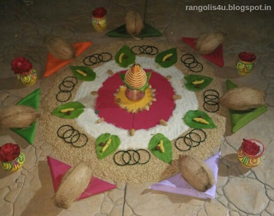 Indian traditional Rangolis