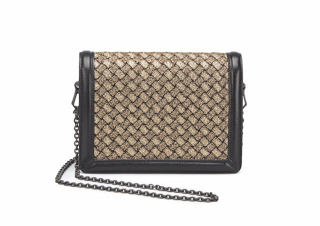 Bottega Veneta textile snakeskin wallet sample sale