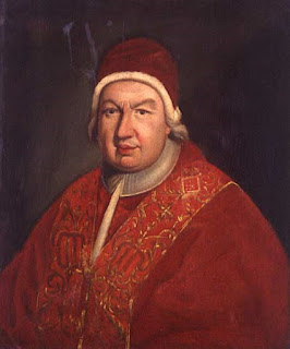 Pope Benedict XIV succeeded Clement XII as a compromise candidate after a six-month conclave