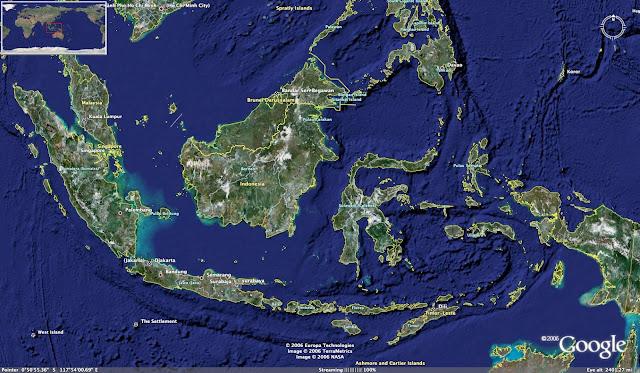 Batas-Batas Wilayah Indonesia Lengkap Utara, Barat, Timur, Selatan