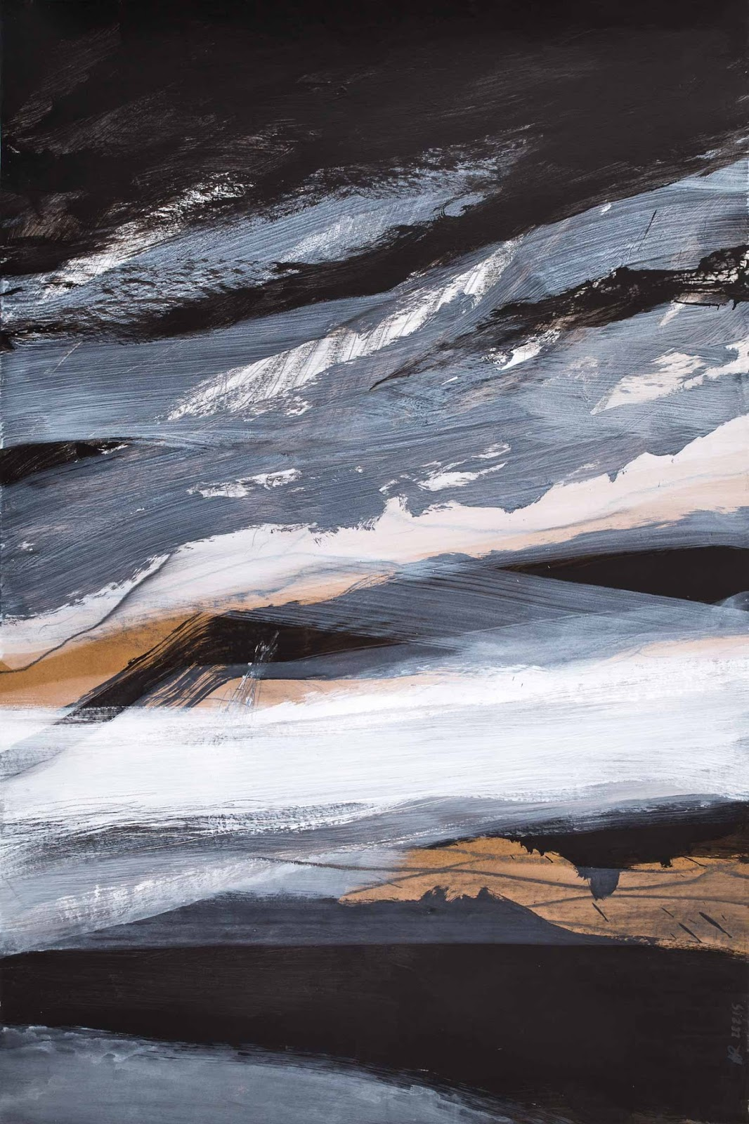 80 x 120 cm, acrylique et graphite sur papier kraft, 22 février 15