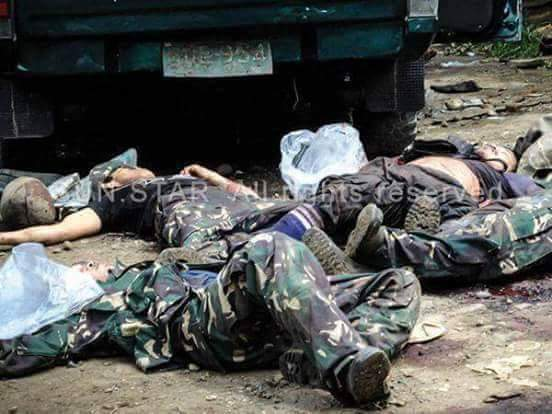 Gambar 18 Tentera Filifina Maut Di Serang Militan Abu Sayyaf