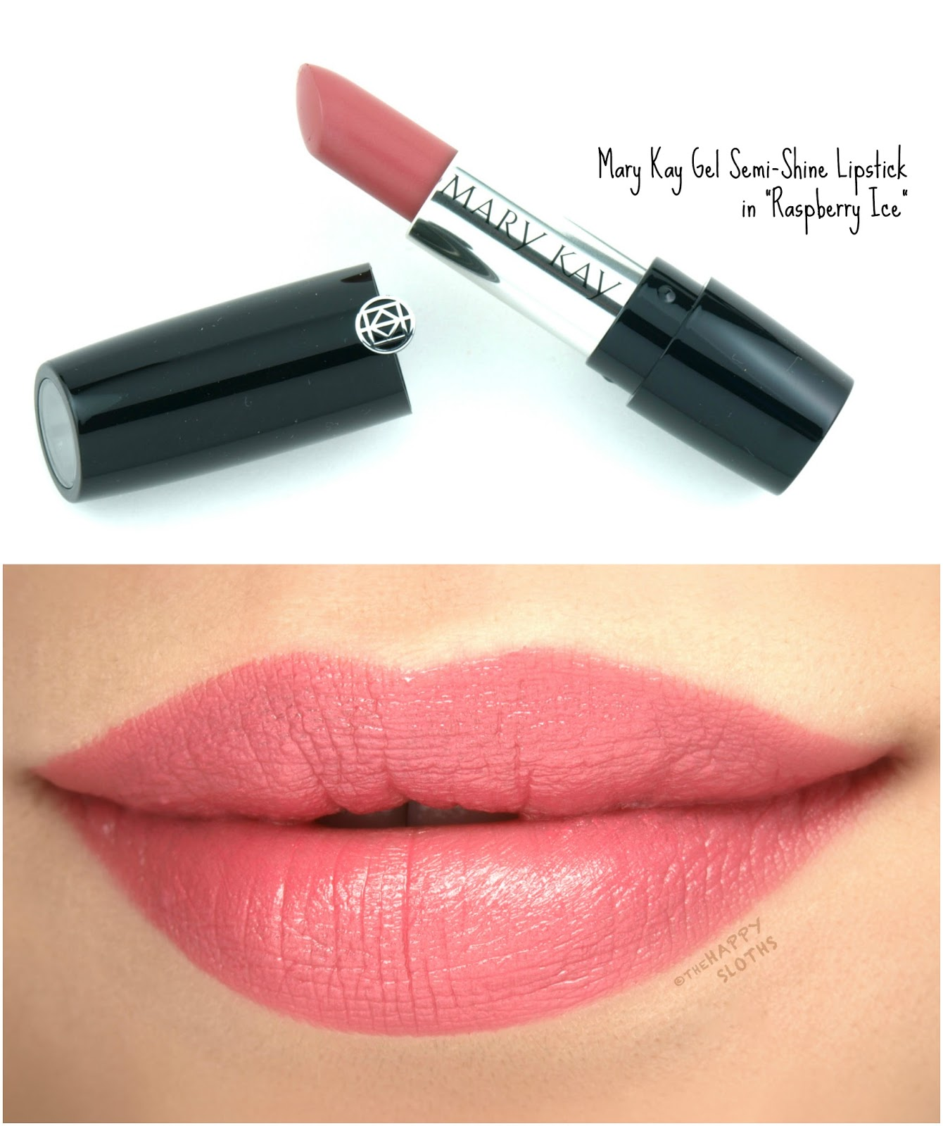 "Mary Kay Gel Semi-Shine Lipstick in ""Raspberry Ice"": Review and Swatches"