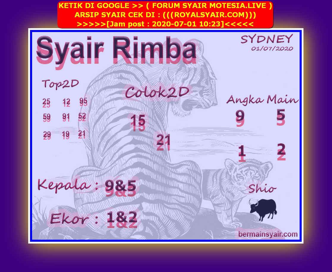 Kode syair Sydney Rabu 1 Juli 2020 79