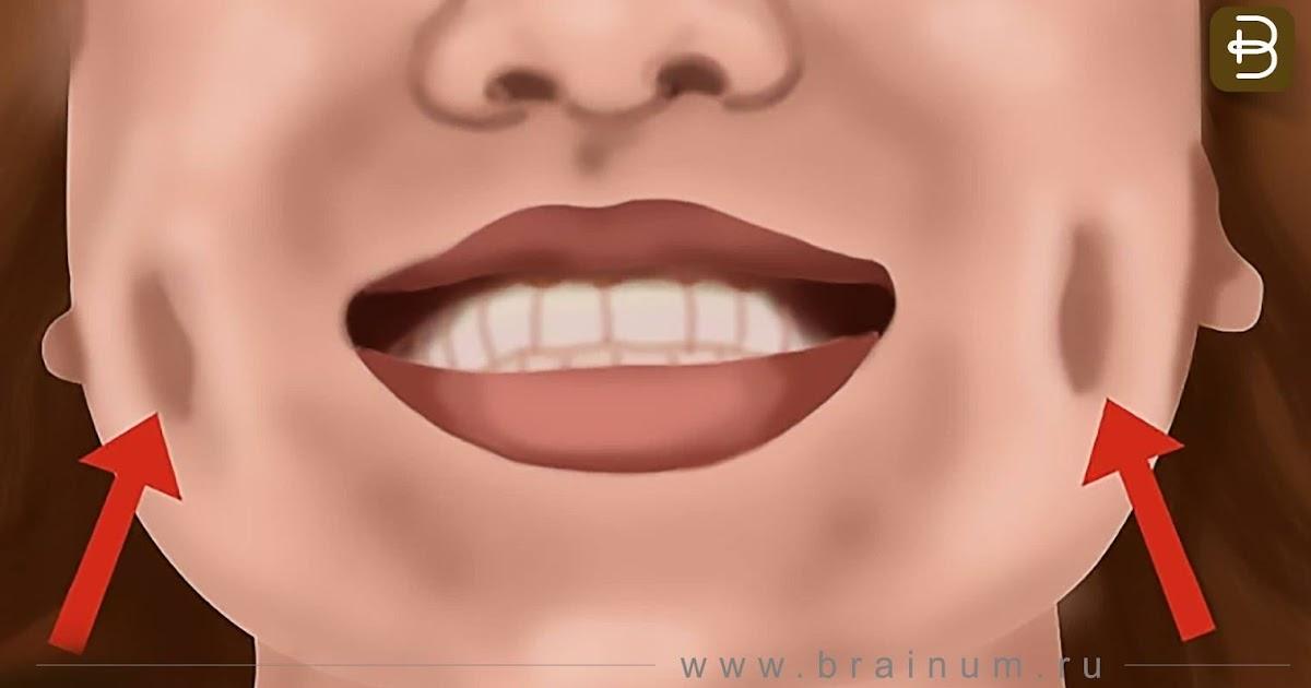 ямочки на щеках пропадают когда лицо поправляется